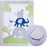 Humble Home Products 100% Cotton Premium Nursery Bedding: 6 Piece Baby Boy/Girl Elephant Crib Set