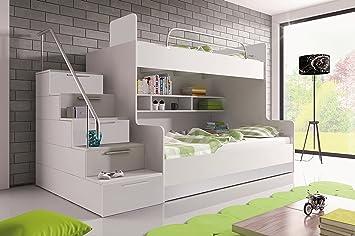 Etagenbett Weiß Für Kinder : Furnistad etagenbett für kinder heaven stockbett mit treppe