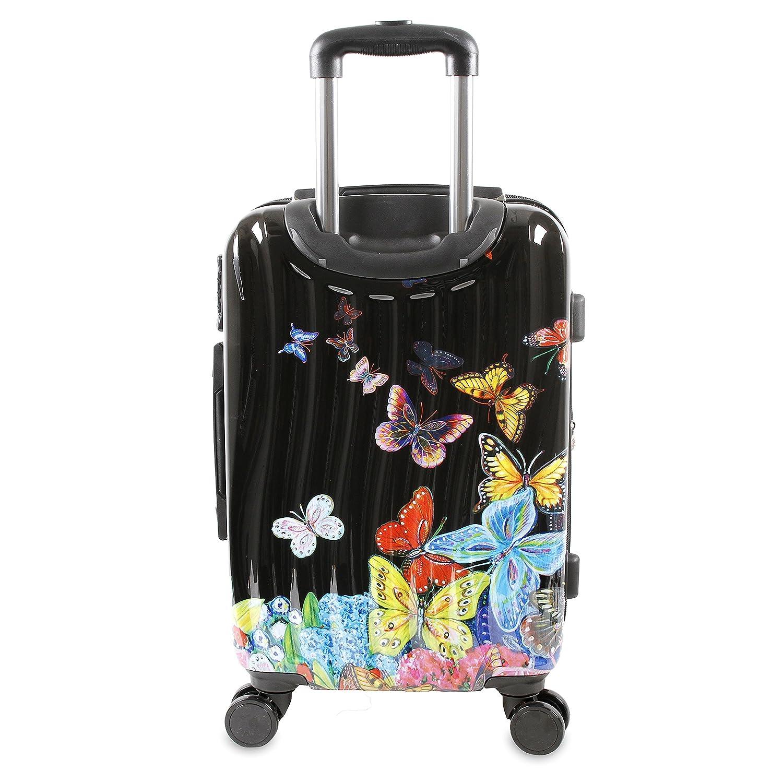 Art Bag Nyc Amazoncom J World New York Art Polycarbonate Carry On Butterfly
