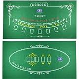 Tabletop Casino Felt Layout for Texas Holdem Poker and Blackjack - Premium Professional Grade Blackjack and Poker Mat…