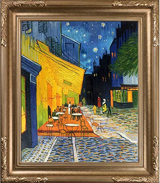 OverstockArt Cafe Italy Hand Painted Oil Canvas Art