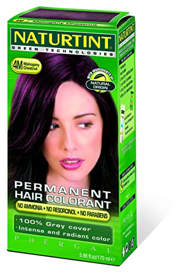 naturtint permanent hair 4m colorant mahogany chestnut 598 fl oz liquid - Colorant Textile
