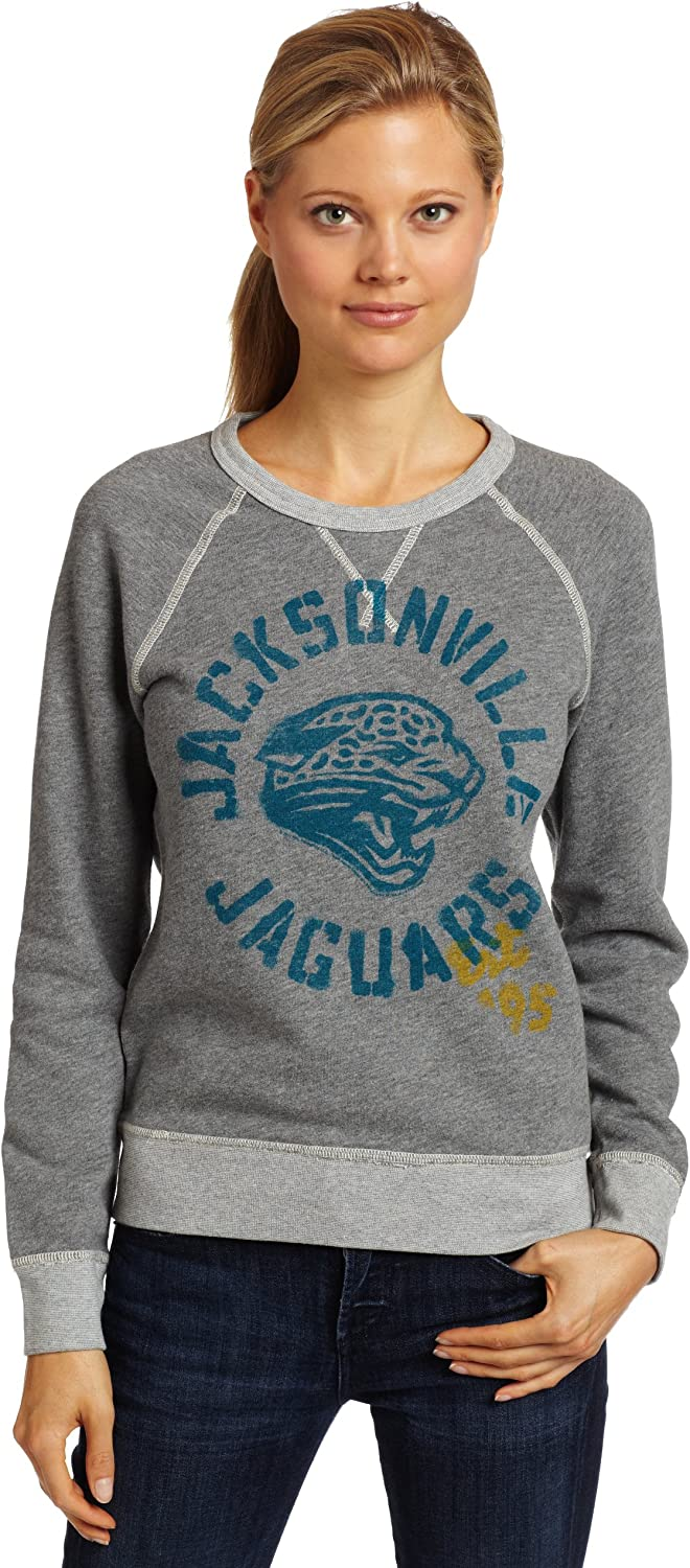 NFL Jacksonville Jaguars Heather Vintage French Terry Raglan Women's