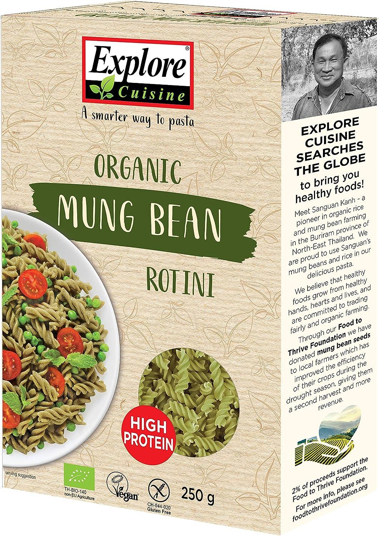 Explore Cuisine Pasta Rotini orgánica, deliciosa, proteína vegana a base de plantas, alta en proteínas, alta en fibra, sin gluten, fácil de cocinar