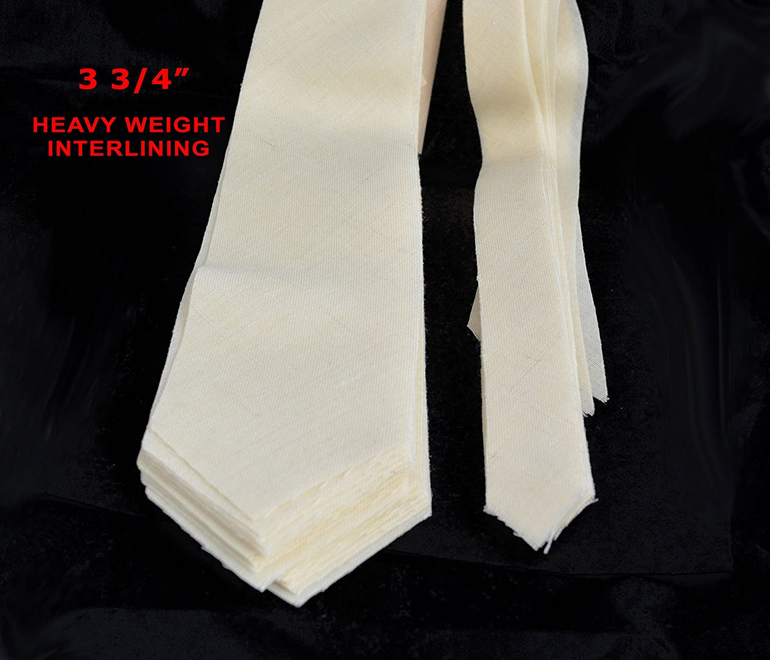 5 SIZES AVAILABLE 10 PACK of PRE-CUT 100/% wool HEAVY weight necktie interfacing // interlining 3 3//4 AC Ter Kuile made in Netherlands finest available