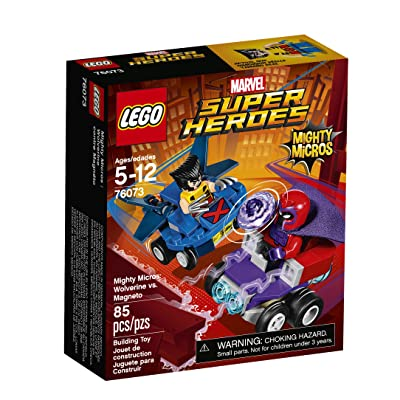 LEGO Super Heroes Mighty Micros: Wolverine Vs. Magneto 76073 Building Kit: Toys & Games