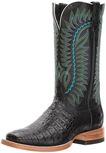 ca1c3ecddea ARIAT Men s Relentless Gold Buckle Western Boot Black Caiman Belly Size 7  ...