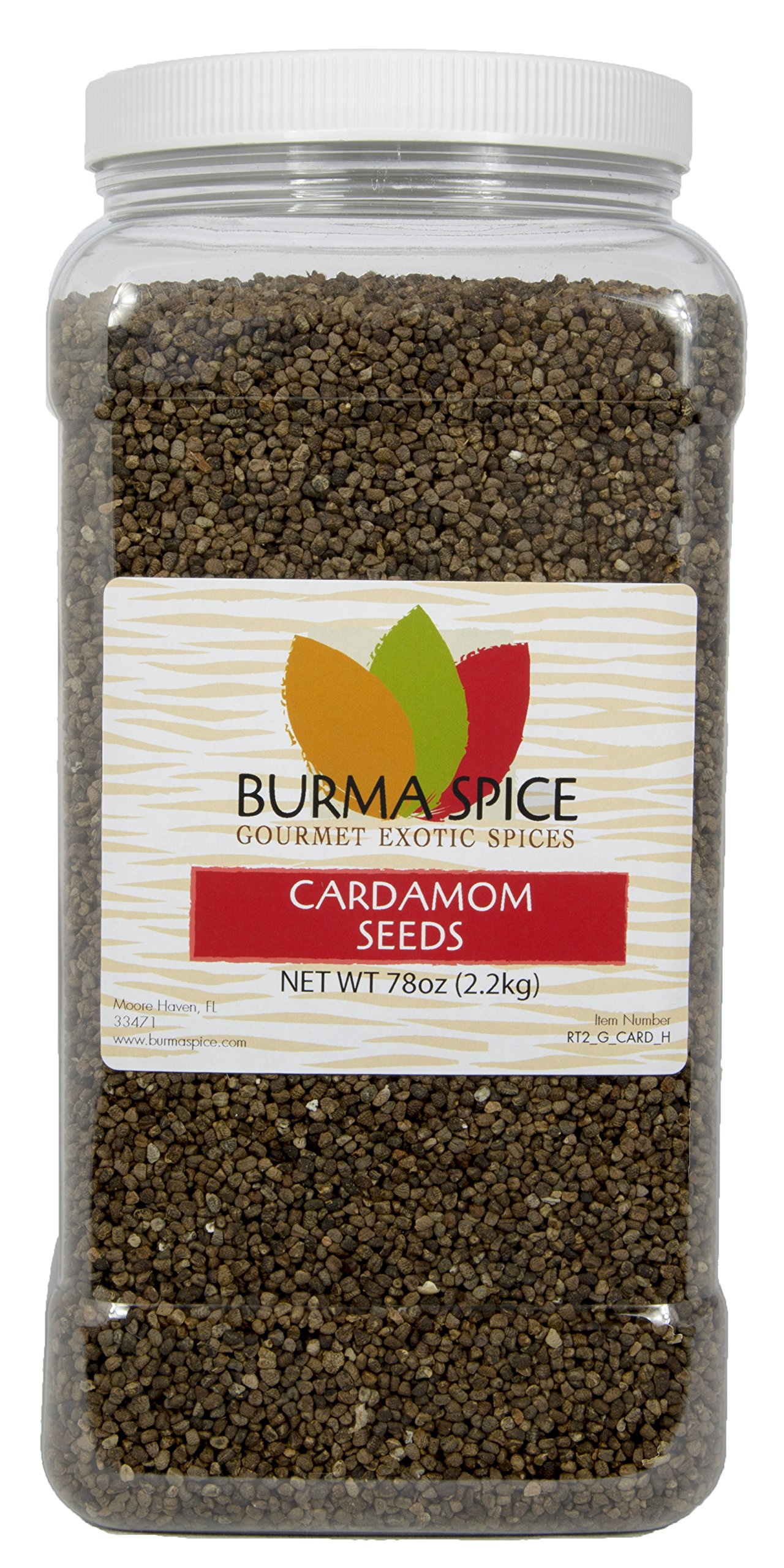 Cardamom Seeds : Whole : Indian Herb Spice : Kosher (78oz.) by Burma Spice (Image #1)