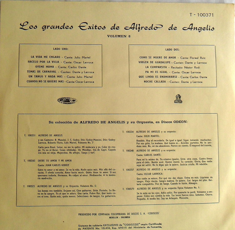 LP LOS GRANDES EXITOS DE ALFREDO DE ANGELIS VOL.8 CANTAN ...