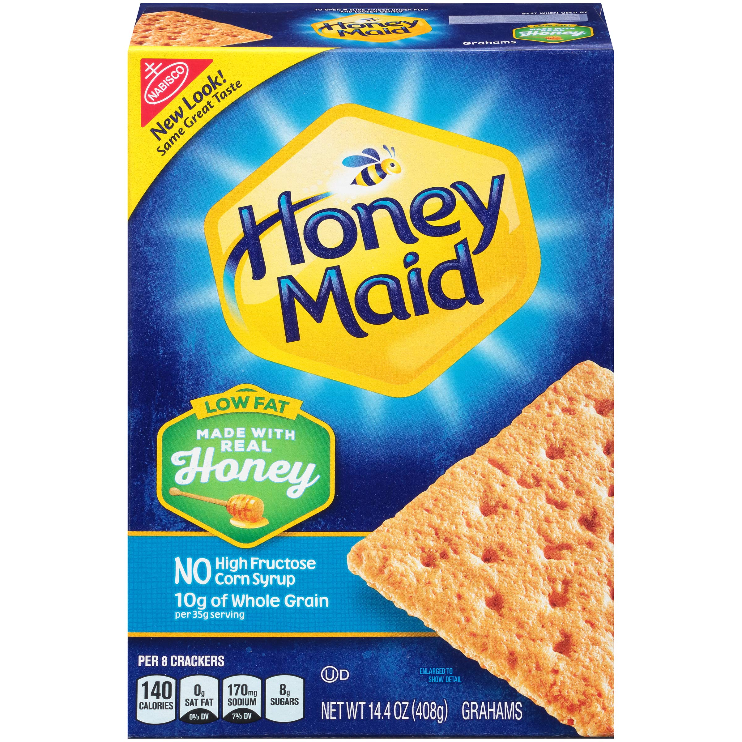 Honey Maid Low Fat Graham Crackers, 14.4 Ounce, (Pack of 12)