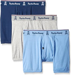 Psycho Bunny Mens 3 Pack Vintage Boxer Brief