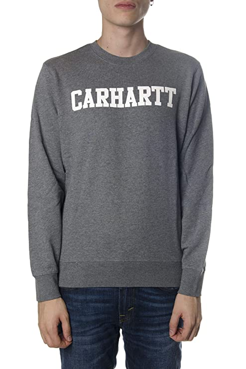 Carhartt Sudadera College Sweat Hombre Gris S