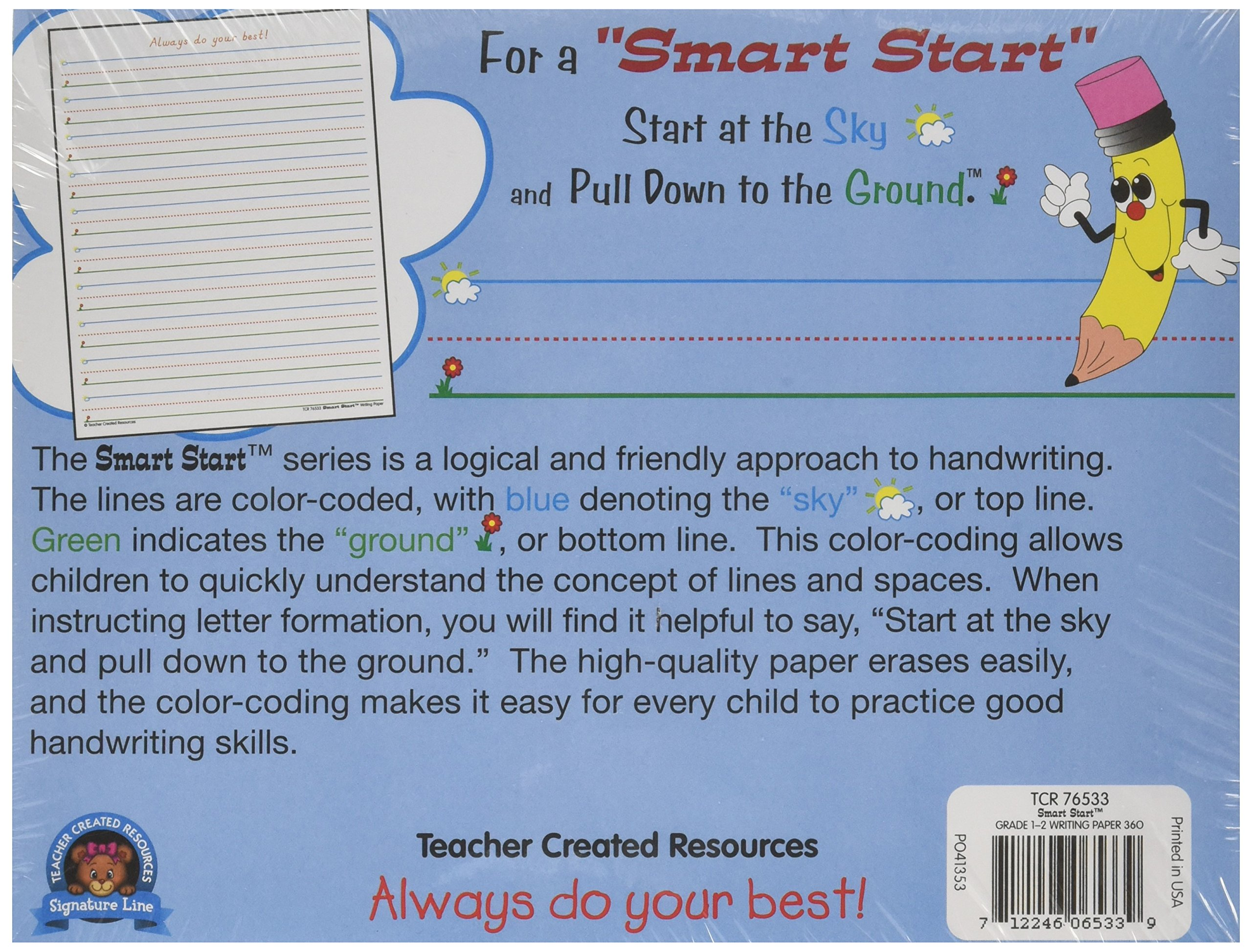 Amazon.com : Teacher Created Resources Smart Start 1-2 Writing Paper ...