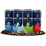 Energy Tea Sampler Pack - High Caffeine Apple Cinnamon, Citrus Hibiscus, Earl Grey Black Teas, Pomegranate Mojito Green Tea - 150 Mg of Caffeine Per Bag (64 Tea Sachets)