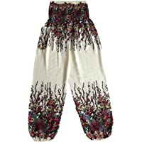 Love Quality Ladies Flower Baggy Harem Pants One Size Hippie Pants