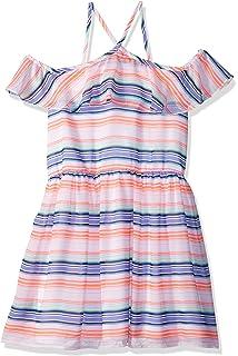 Amazon.com  Tommy Hilfiger Girls  Big Kaftan Dress, Azure Blue, L12 ... 7f971c045e3b