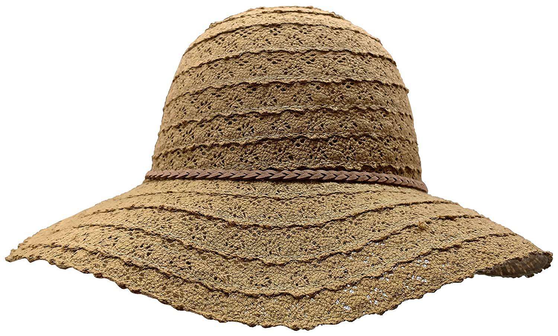 Amazon.com  Yacht   Smith Cotton Crochet Sun Hat Soft Lace Design ... b5aab4570078
