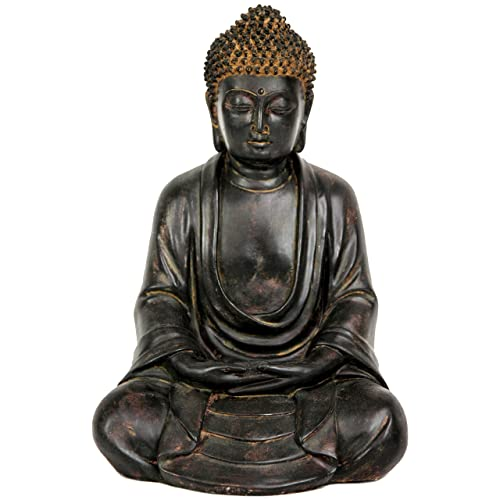 Oriental Furniture 9 Japanese Sitting Buddha Statue