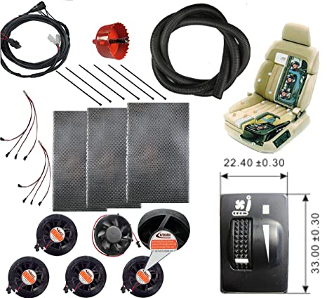 WATERCARBON 12v Cooler Car Seat Cooling Kits System For Toyota Prado Dedicated Switch Automotive Ventilated