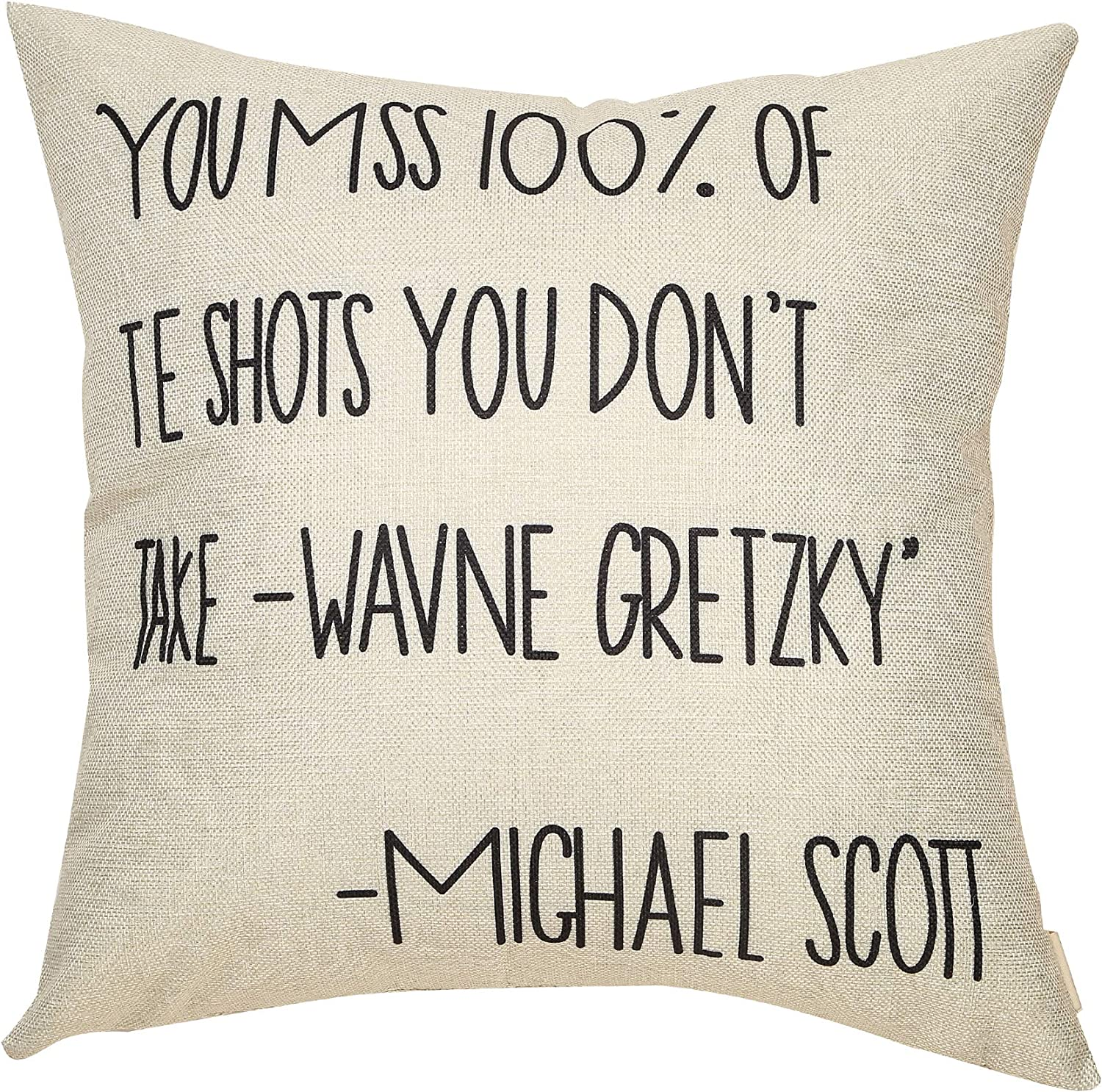 Fbcoo The Office TV Show Decorative Throw Pillow Case Bears Beets Battlestar Galactica Cushion Cover Home Decor 18 x 18 Inch Cotton Linen for Sofa Couch