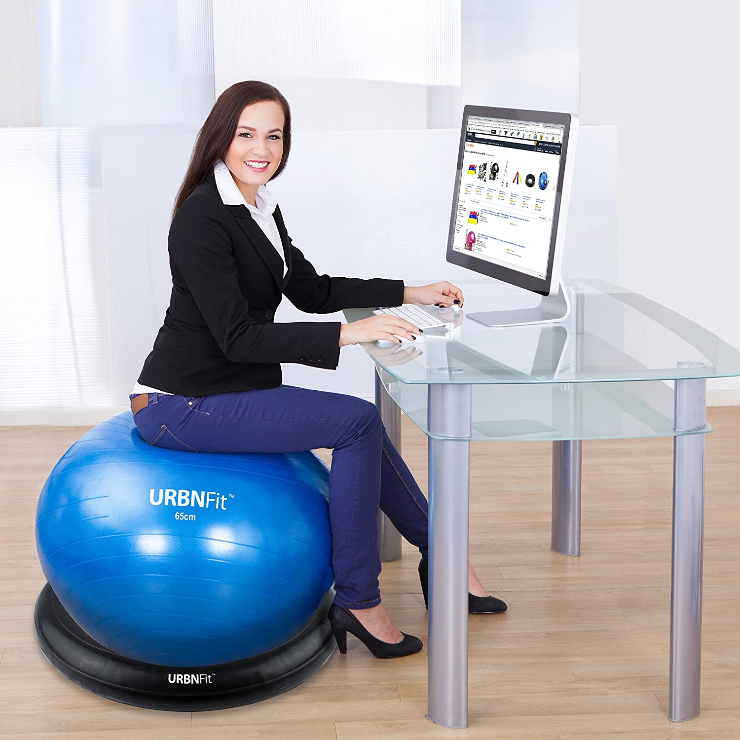 Amazon Exercise Ball Stand Inflatable Exercise Ball Base