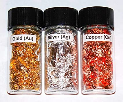 Amazon gold silver copper metal element sample in glass vials gold silver copper metal element sample in glass vials the complete 11th column urtaz Image collections