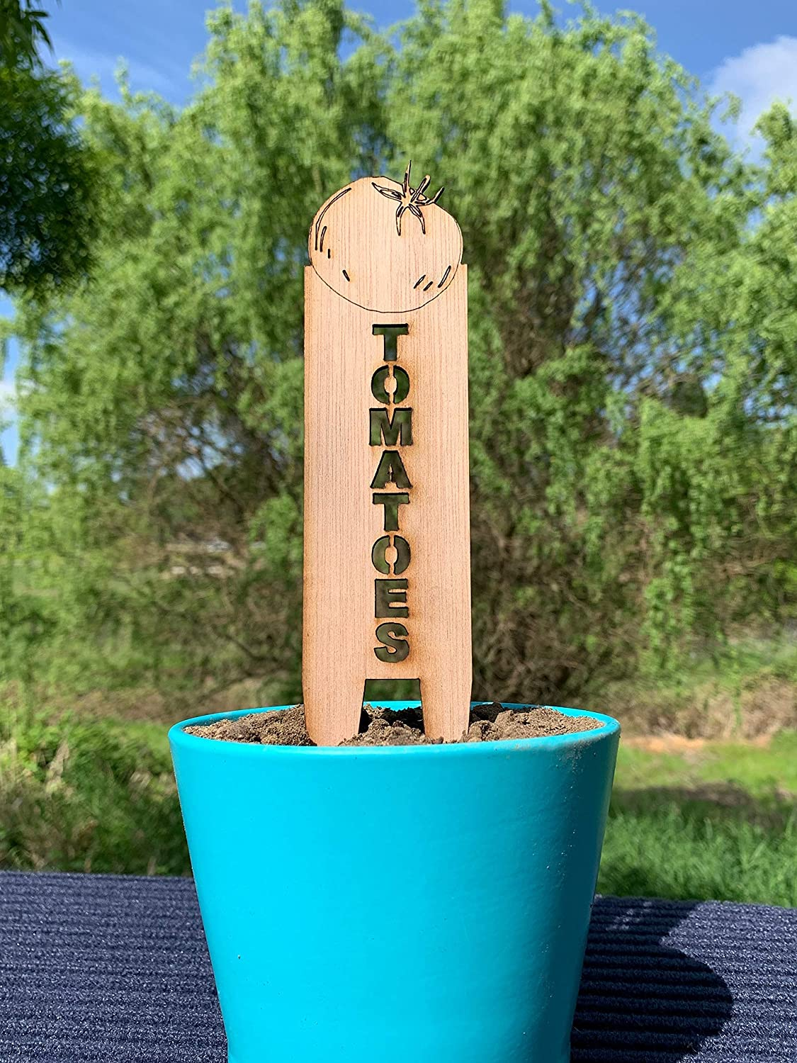 Tomatoes, Garden Stakes, Vegetable Markers, Plant Stakes, Decorative Garden Markers, Veggie Sticks, Herb Sticks