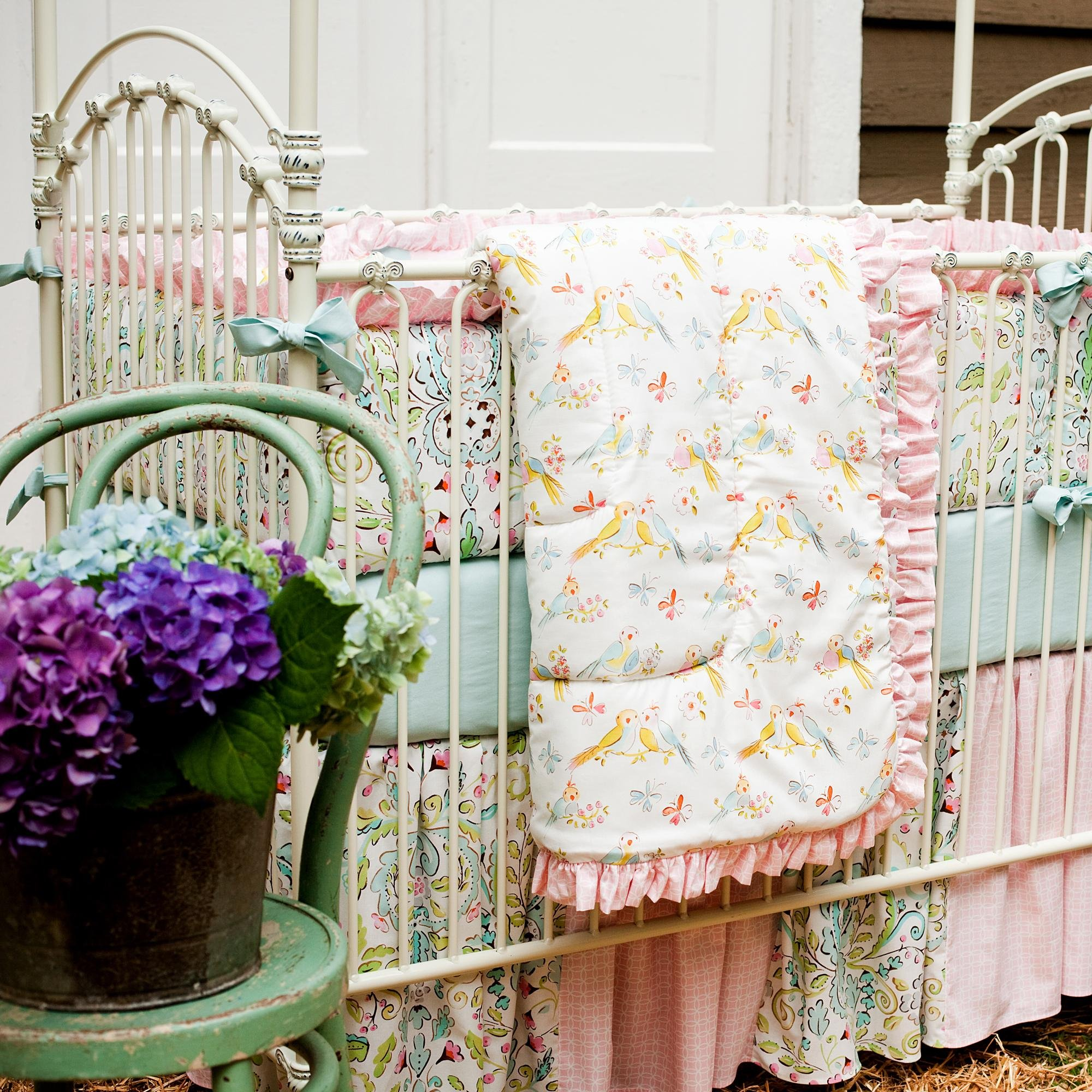 Carousel Designs Love Birds 3-Piece Crib Bedding Set by Carousel Designs (Image #1)