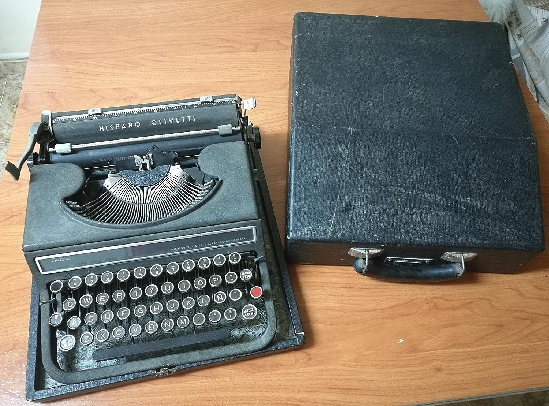 Maquina de escribir Hispano Olivitti Studio 46: Amazon.es: Oficina y papelería