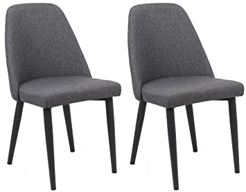 Amazon.com: BTEXPERT Premium gris sillas de comedor, Juego ...