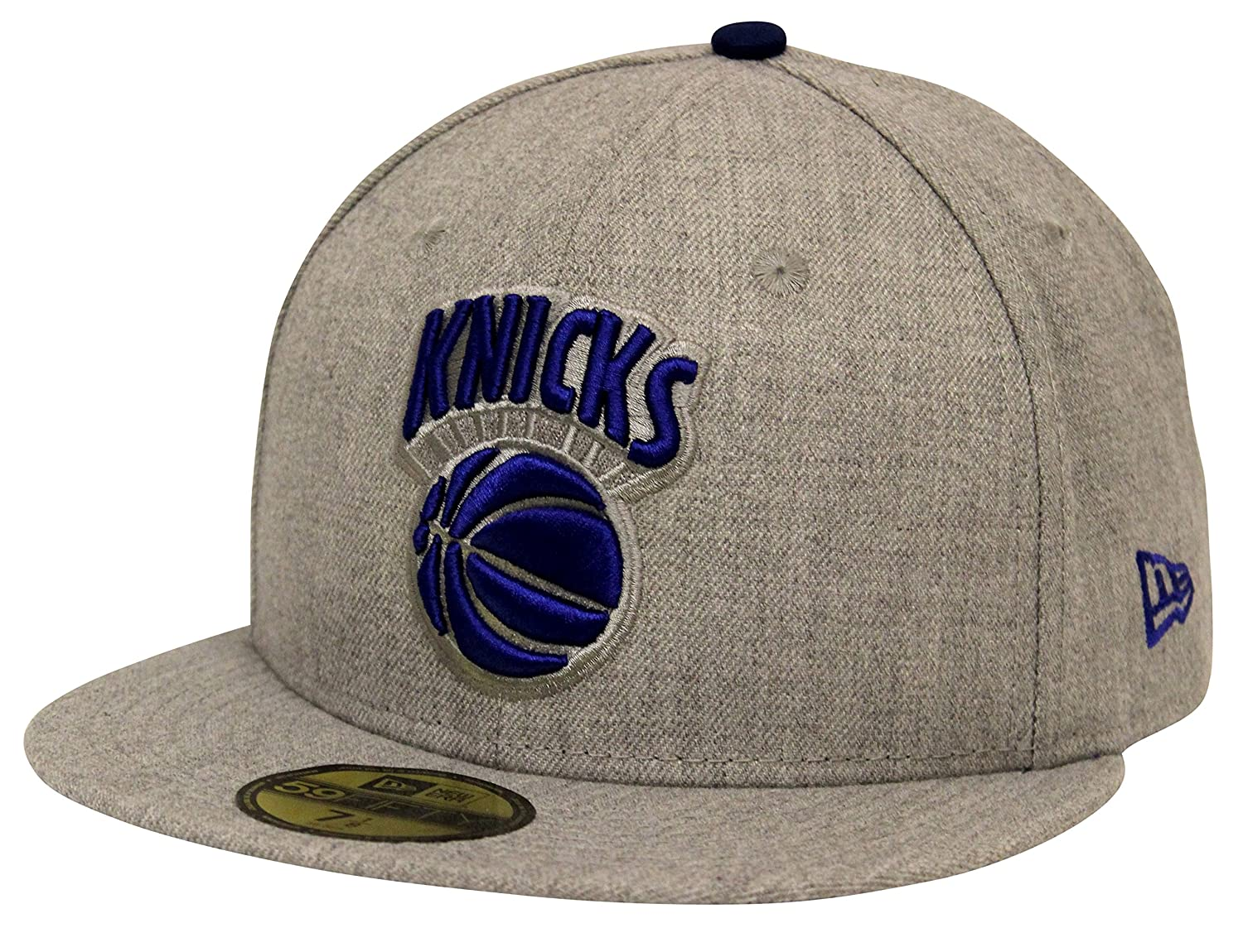 New Era 59Fifty Heather Gray Blue New York Knicks Fitted Cap (7 7 8) at  Amazon Men s Clothing store  0c153fcb42c