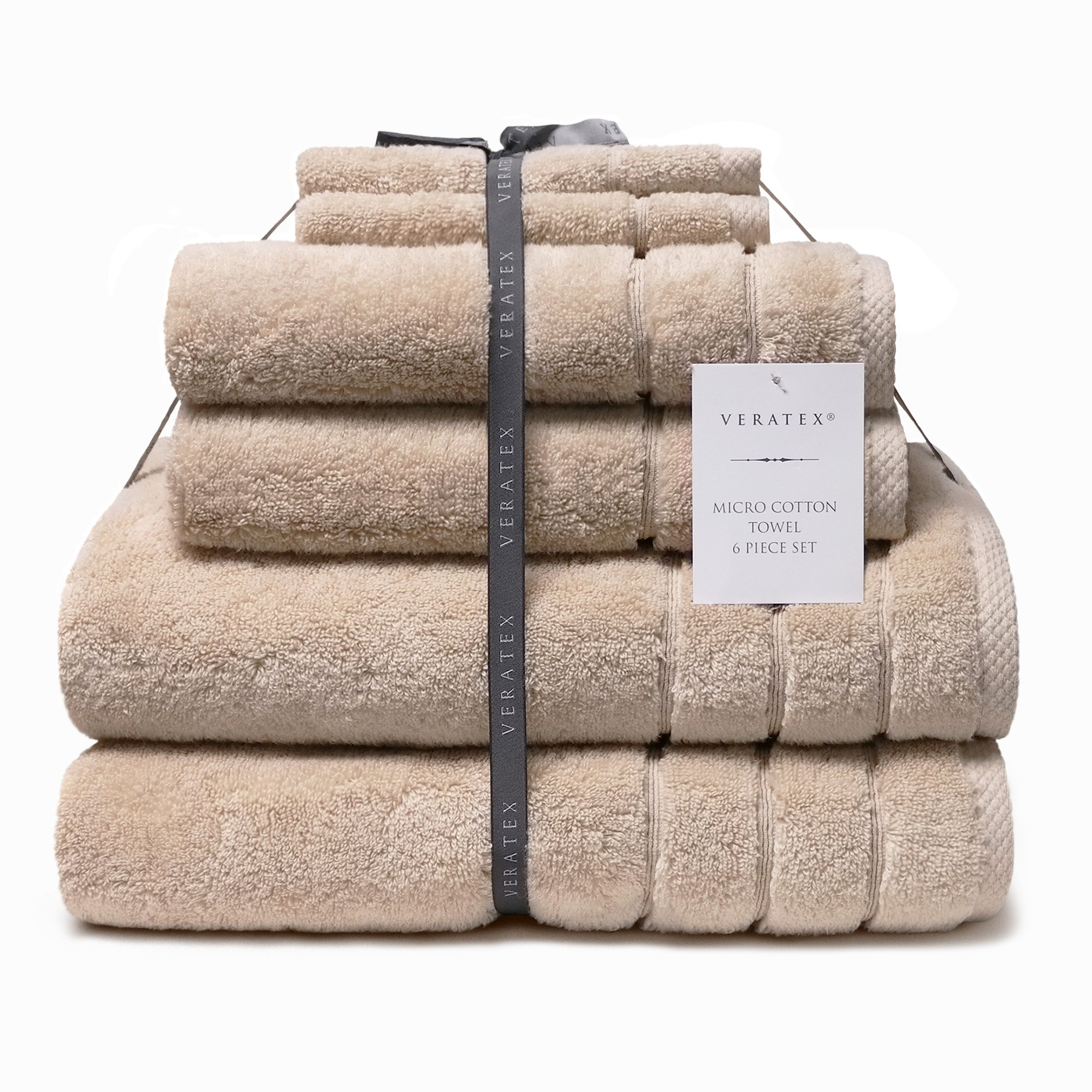 CDM product Veratex Turkish Micro Cotton Terry 6 Piece Set, Linen Bath Towel, small thumbnail image