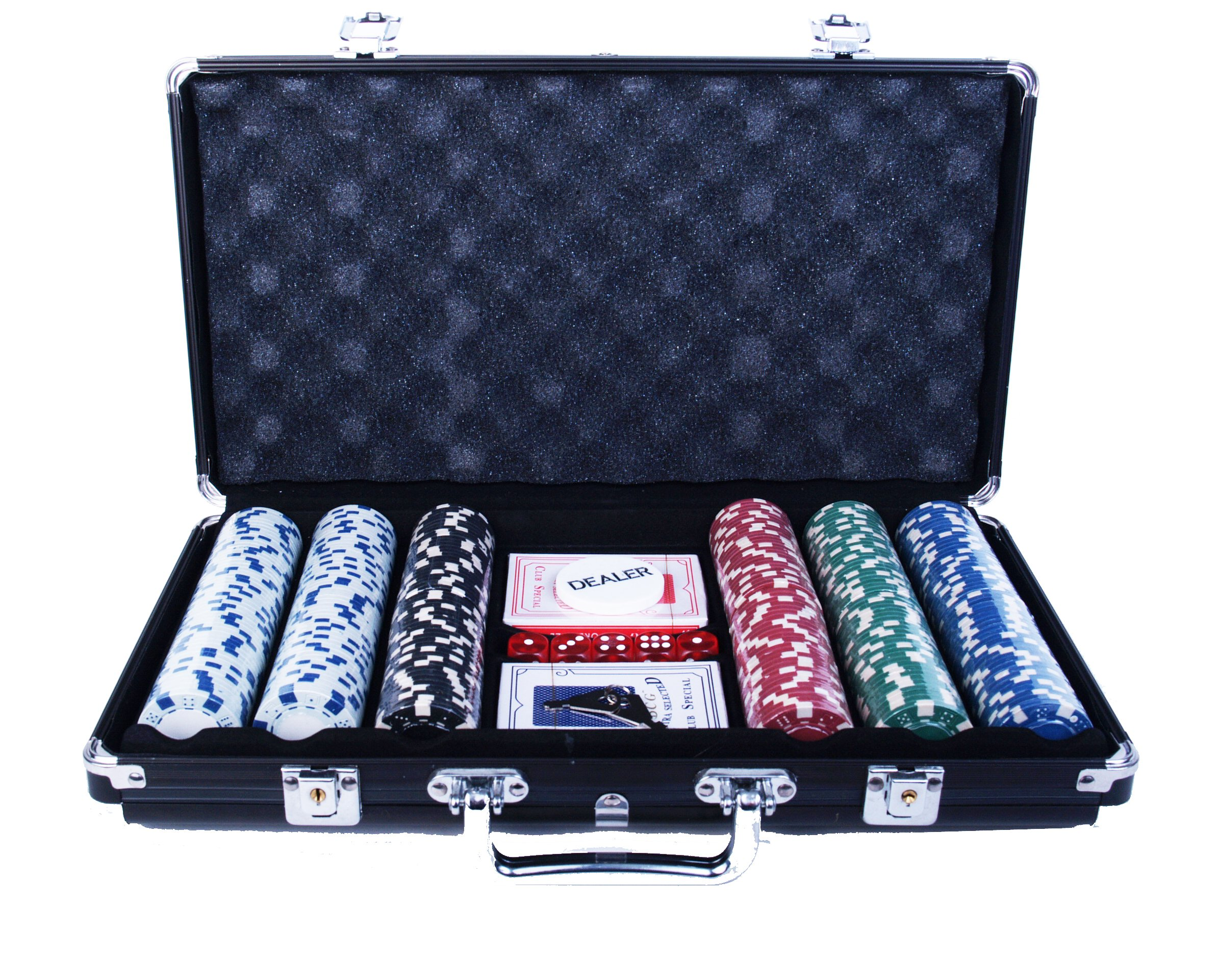 Classic Game Collection 300 Chip Poker Game Set