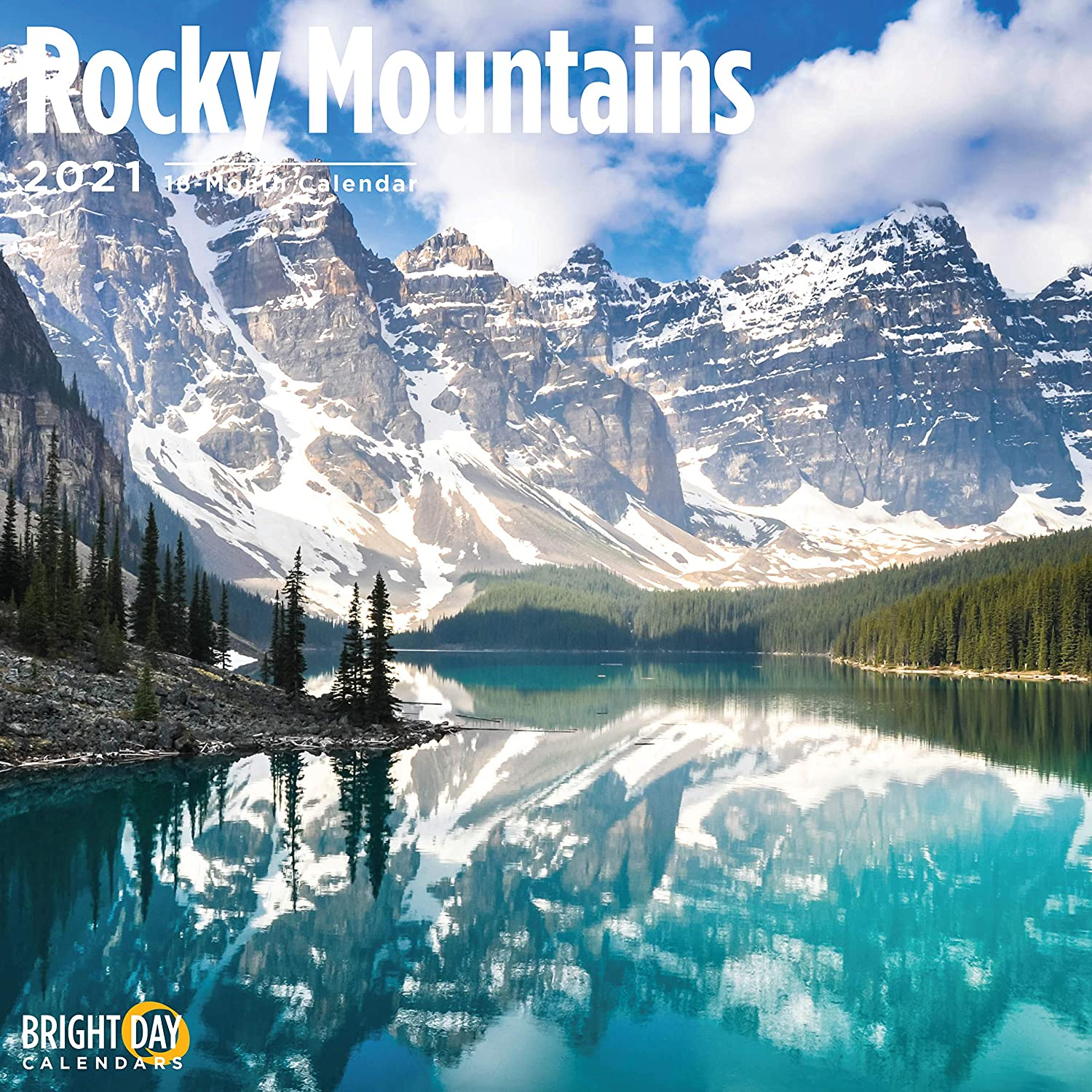 2021 Rocky Mountains Wall Calendar by Bright Day, 12 x 12 Inch, National Parks Camping Hiking
