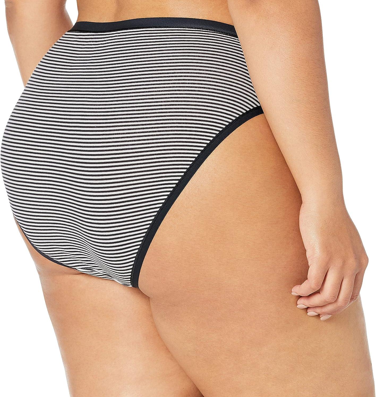 Essentials Womens Plus-Size 6-Pack Cotton Stretch Thong Underwear