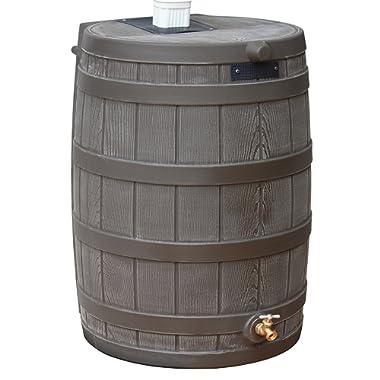 Good Ideas RW50-OAK Rain Wizard Rain Barrel 50 Gallon, Oak