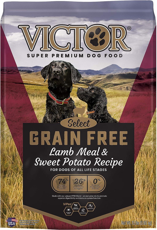 VICTOR Select - Grain Free Lamb Meal & Sweet Potato Recipe, Dry Dog Food, 30 lb