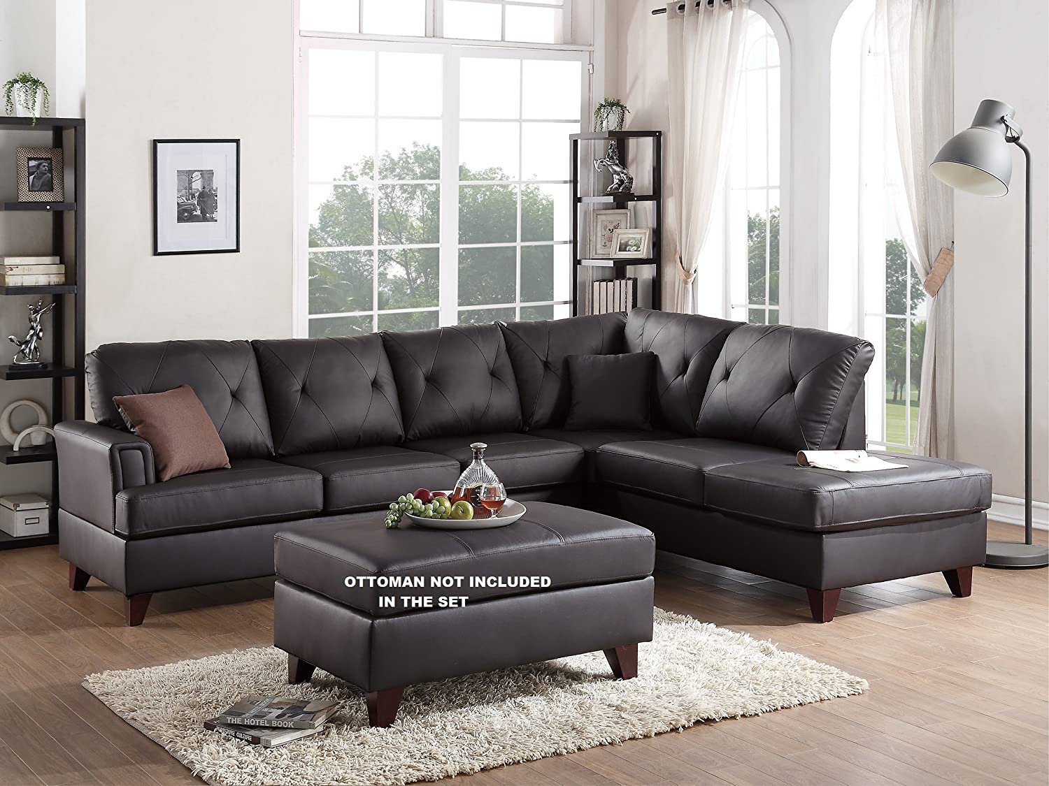 Tremendous Amazon Com Millford 2 Pieces Sectional Sofa Set Upholstered Pdpeps Interior Chair Design Pdpepsorg