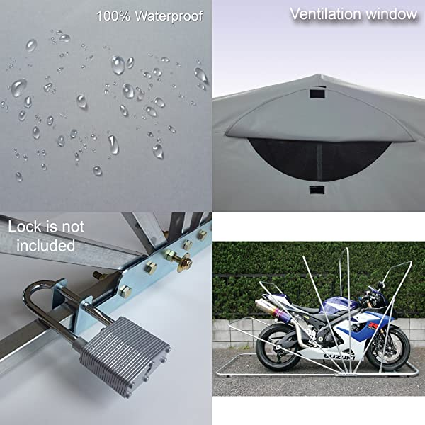 Storage tent for motorcycles