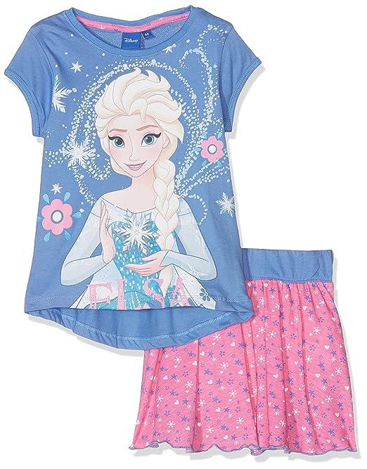 Disney Frozen Frozen, Ropa Interior de Deporte para Niñas, Azul Blue, 4-