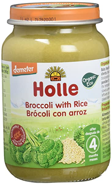 Holle Potito de Brócoli con Arroz Integral (+6 meses) - Paquete de ...