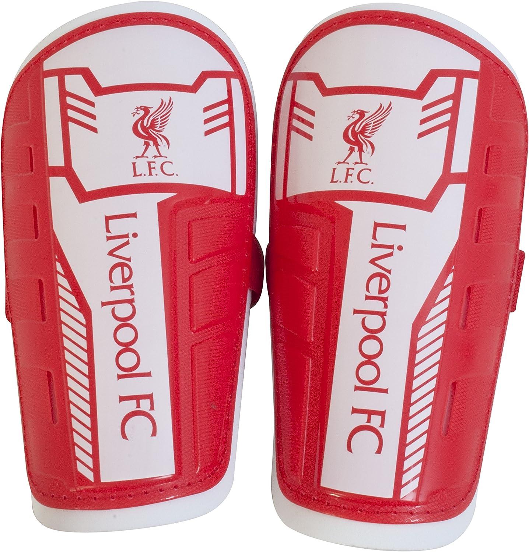 Rojo Liverpool FC Ni/ño Liverpool Slipin espinilleras espinilleras