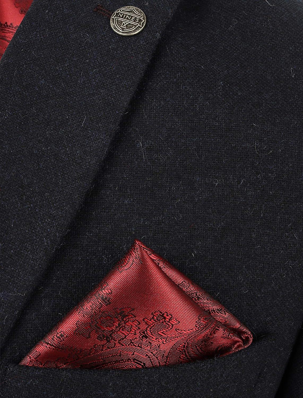 Mens Tweed 3 Piece Suit Navy Peaky Blinders Wedding Fitted Suit Wool Blend