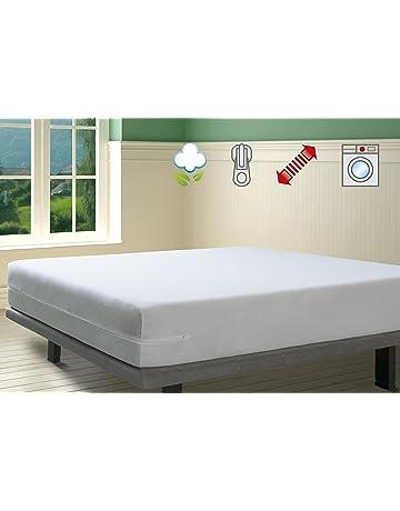 SAVEL Funda de colchón Rizo 100% algodón, elástica, ajustable y muy absorbente