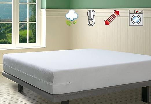 SAVEL - Funda de colchón elástica de Algodón | 135x190/200cm ...