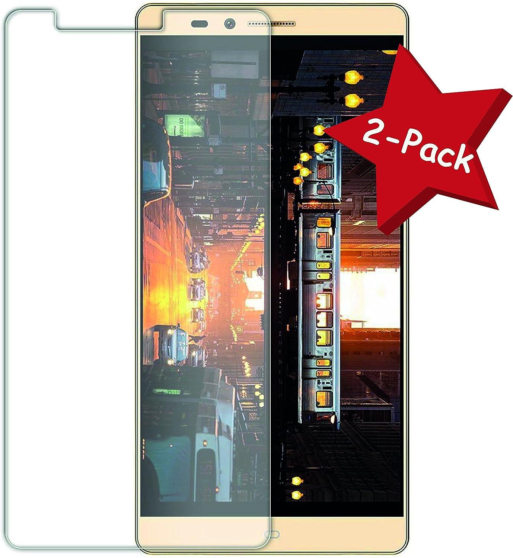 Funnytech@ [Pack 2] Protector de pantalla Cristal templado para Elephone Vowney (No Cubre el Borde Biselado) l Calidad HD, Grosor 0,3mm, Bordes redondeados 2,5D, alta resistencia a golpes 9H. No deja burbujas