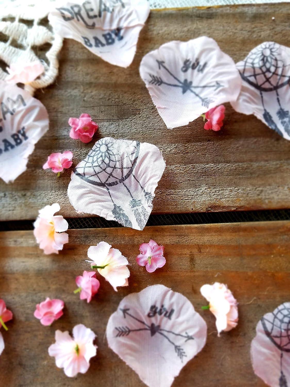 Pink Flower Confetti Boho Baby Shower Decorations Dream Catcher Baby Shower Baby Shower Centerpiece for Girls