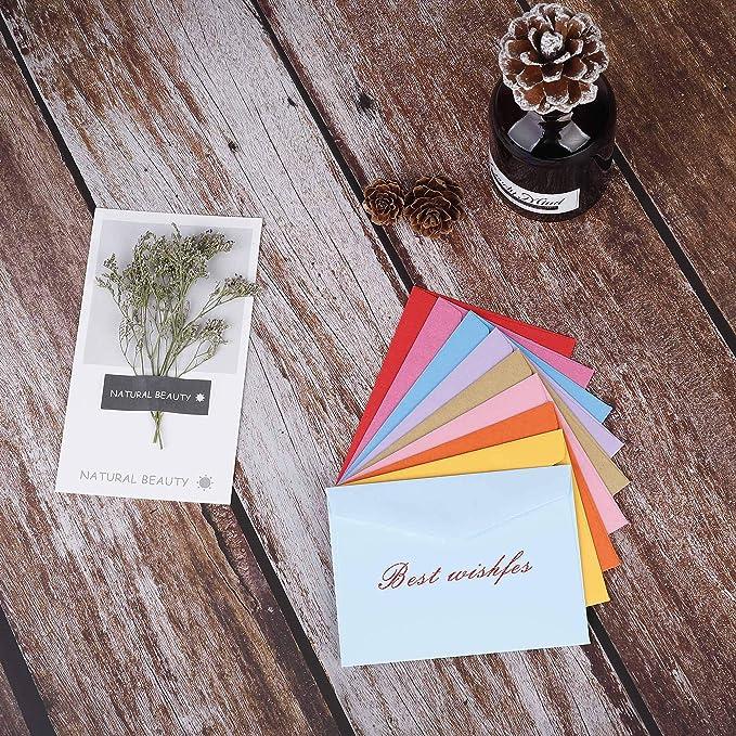 Mini Busta 4,3 x 3,15 inch multicolore Buste simpatiche per carta regalo Festa di compleanno Forniture natalizie 100 pezzi