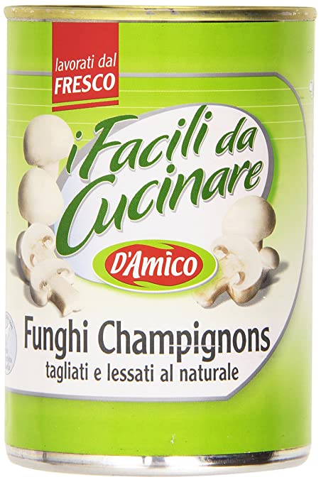 7 opinioni per D'Amico- I Facili da Cucinare, Funghi Champignons, tagliati e lessati al