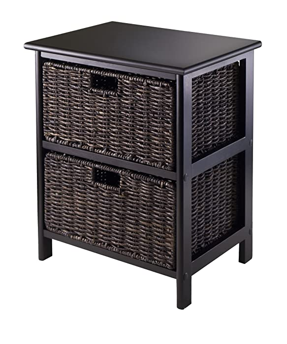 Winsome Omaha Storage Rack with 2-Foldable Basket